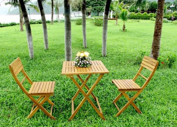 Gartenset Aus Akazienholz Tisch 2 Stühle Für 4385