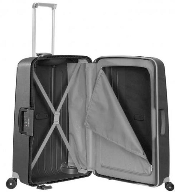 75cm reise trolley mit 100 5 liter samsonite s 39 cure. Black Bedroom Furniture Sets. Home Design Ideas