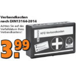 KFZ-Verbandkasten für 3,99€ bei Globus Baumarkt ab 19.02. in den Filialen