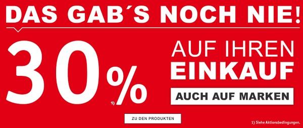 30% Rabatt auf (fast) alles im XXXL-Shop + 10€ Extra ...