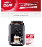 Real- Krups Logo Kaffeevollautomat EA810B inkl. Reinigungstabletten und 2 x 1 kg BEST. Kaffeebohnen