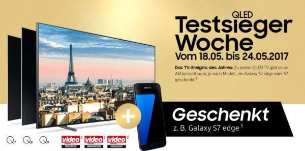 samsung qled smart tv kaufen gratis galaxy s7 s7 edge. Black Bedroom Furniture Sets. Home Design Ideas