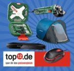12 Produkte von TOP12.de zu gewinnen, z.B. Akkusschrauber, DVD-Player, Tischgrill uvm.!