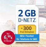 300-500 Min./SMS + 2GB / 3GB LTE ab 6,99€ im D2- oder o2-Netz *NEU: 3 Frei-Monate - nur bis 30.06.*
