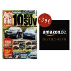 13 Ausgaben AutoBILD + 30€ Amazon Gutschein