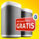 2 Sonos PLAY:1 WLAN-Lautsprecher gratis (Wert: 419€) zu Unitymedia-Aktionstarife ab effektiv 18,33€/Monat