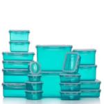 Blaue Frischhaltedosen