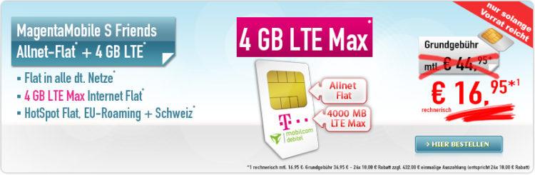 telekom allnet flat sms flat 4gb lte f r 16 95 monat nur f r junge leute. Black Bedroom Furniture Sets. Home Design Ideas
