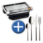 Tefal GC 722 D Optigrill + Villeroy & Boch Piemont Besteck-Set