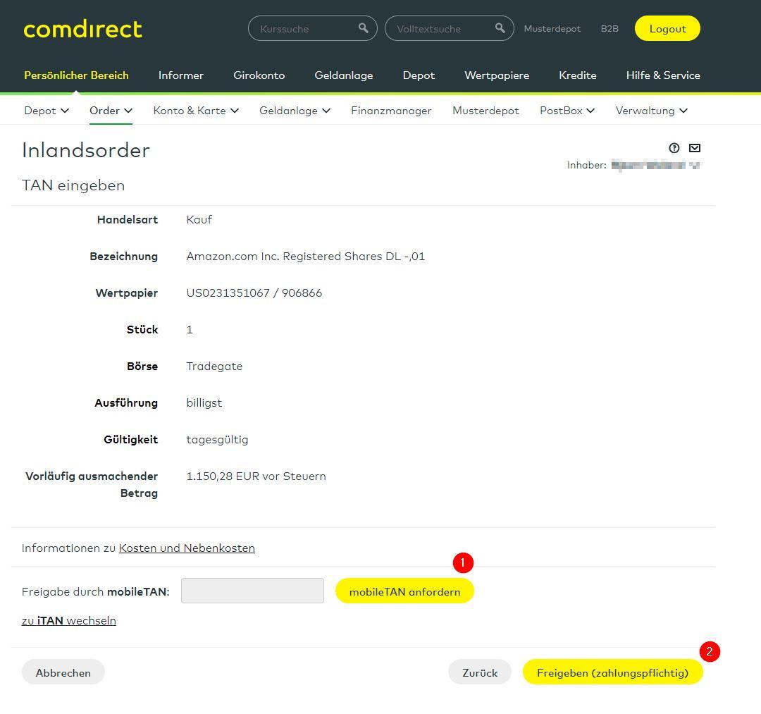 150 Bonus Für Kostenloses Comdirect Depot Schufafrei