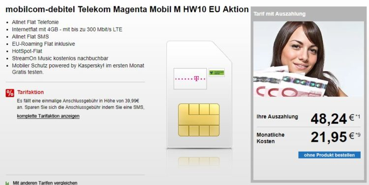 telekom magenta mobil m mit 4gb lte 6gb f r junge leute f r 19 95 monat. Black Bedroom Furniture Sets. Home Design Ideas