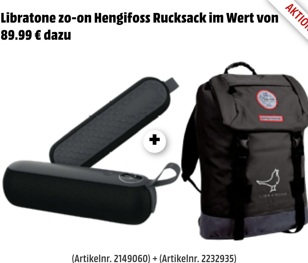 libratone too bluetooth lautsprecher in schwarz gratis rucksack von zo on im wert von 89 dazu. Black Bedroom Furniture Sets. Home Design Ideas