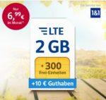 300 - 500 Min./SMS + 2GB - 4GB LTE ab 6,99€ im o2- oder Vodafone-Netz bei 1&1 über WEB.DE/GMX *Neu: 3 GRATIS-Monate*