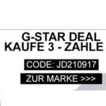 G-Star-Deal: Kaufe 3 und zahle 2 z.B. 3 Jeans für 234€ statt 334€)