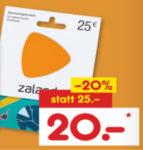 25€ Zalando Gutschein für 20€ bei Netto MD *ab 21.09.*