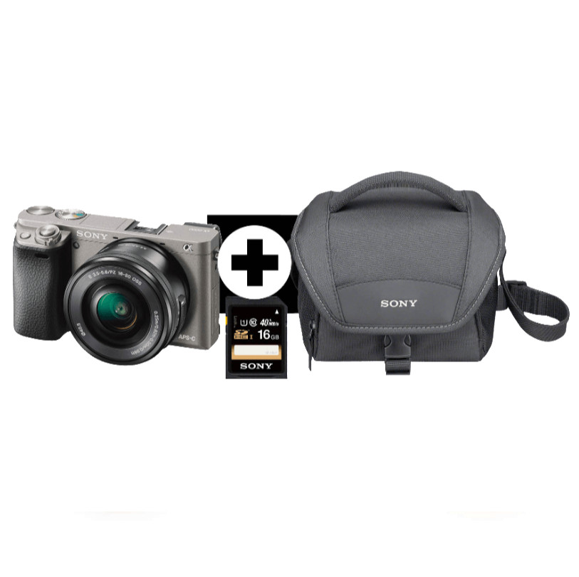 systemkamera sony alpha 6000 lh kit inkl 16 50mm objektiv. Black Bedroom Furniture Sets. Home Design Ideas
