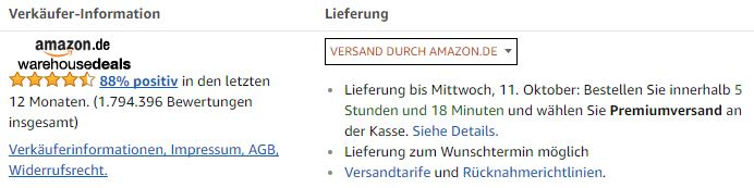 Amazon Warehouse Deal Bücher