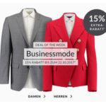 Engelhorn: 15% Rabatt auf Businessmode