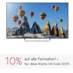 Otto: 10% auf Fernseher, z.B. Samsung Curved-Smart-LED-TV für 617,90€ (statt 680€)