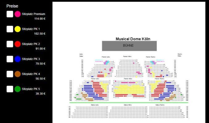 Saalplan Musical Dome