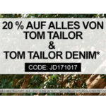 Tom Tailor: 20% Extra-Rabatt bei Jeans Direct