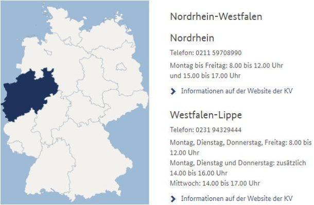 NRW Terminservicestelle
