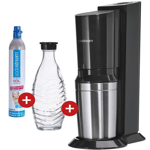 sodastream crystal 2 0 mit glaskaraffe und co2 zylinder. Black Bedroom Furniture Sets. Home Design Ideas