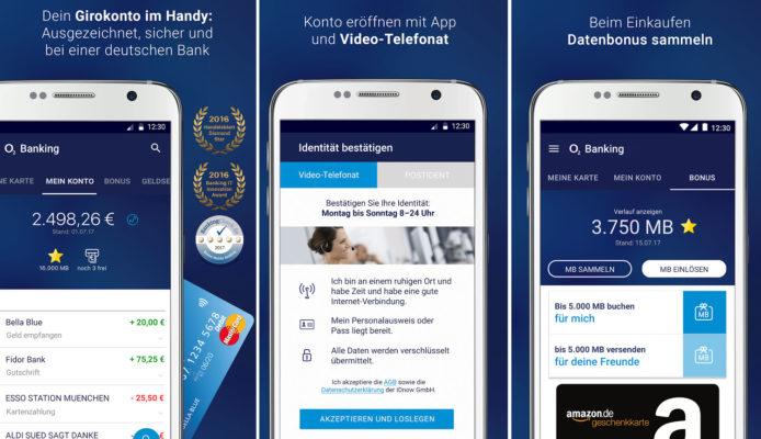 o2 Banking mit App