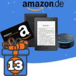 Adventskalender Türchen 13: 1x Kindle, 1x Echo Dot und 5x 100€ Gutscheine von Amazon