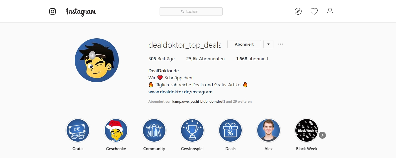 DealDoktor Instagram 2018