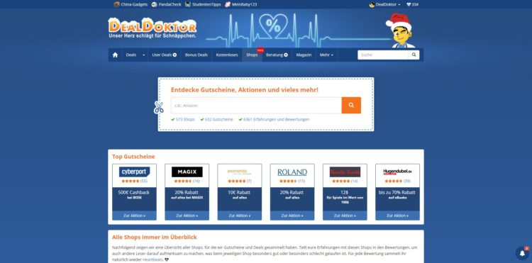 DealDoktor Shops Gutscheine
