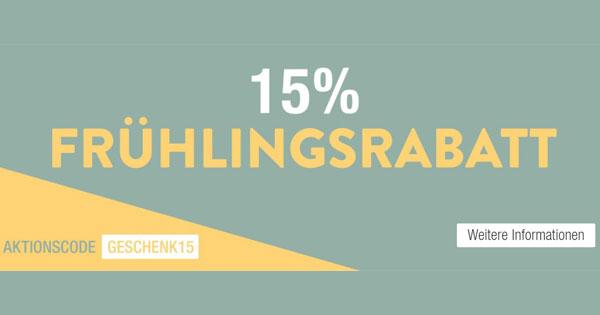 Galeria Kaufhof: 15% Frühlinsrabatt auf (fast) Alles
