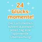 Lottohelden-Adventskalender Tür 17: 6 Felder SonntagsLotto für 9€ + gratis 2 KENO- u. 2 MiniLotto-Tipps