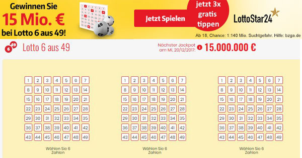 Lotto Jackpot 6 Aus 49
