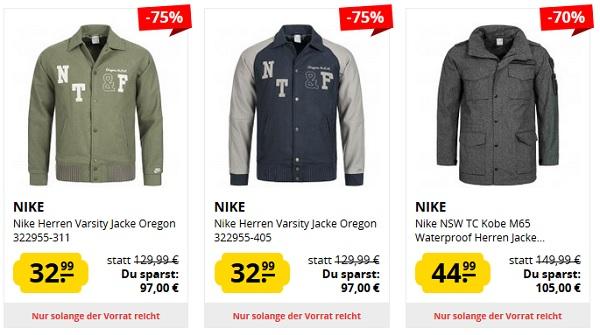 best deals on special section picked up Nike Jacken Sale bis zu 77% Rabatt bei Sportspar.de