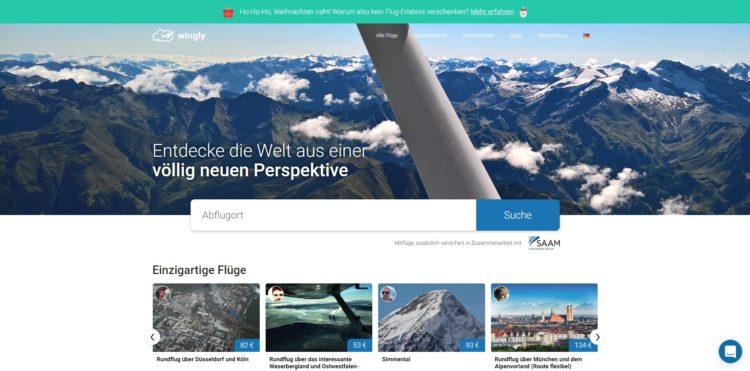 Wingly Homepage