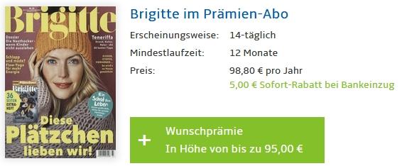 Brigitte Abo Prämie jahresabo brigitte für 93 80 95 zalando oder otto gutschein