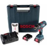 Akku-Bohrschrauber Bosch Professional GSR 18V-21 mit 2 Akkus & Ladegerät + Bit-Set für 139€ (statt 154€)