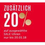 Christ: Sale mit bis zu 60% + 20% Extra-Rabatt auf reduzierte Uhren