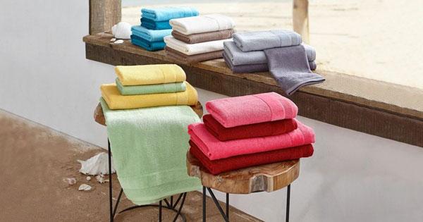 hand und duscht cher im 4er set von vossen in 4 verschiedenen farben f r 23 94. Black Bedroom Furniture Sets. Home Design Ideas