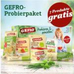 Gratis GEFRO Probierpaket mit 7 original GEFRO Produkten
