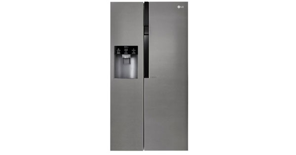 Kühlschrank Wasserspender : Lg gsl 360 icez amerikanischer side by side mit wasserspender für