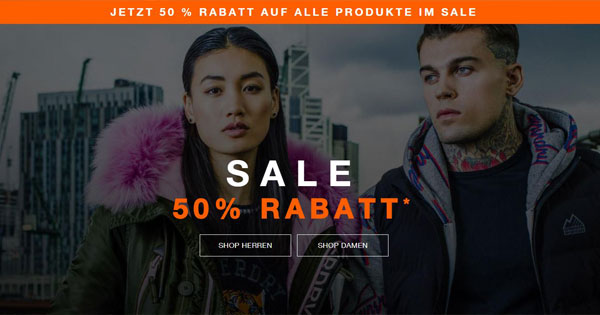 Sale – Bis zu 50% Rabatt   Herren Sale Superdry