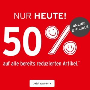 ernstings rabattaktion 50%