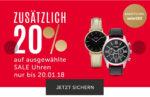 online bei Christ zusätzlich 20% auf ausgewählte bereits reduzierte Uhren zB. Hugo Boss, Cluse usw,bis 60%auf Schmuck