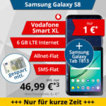 Vodafone Smart XL: Allnet-Flat + 6GB LTE ab 46,99€/Monat + Galaxy S8 + Tab S2 / iPhone 8 / Galaxy Note 8 / iPhone X, etc.