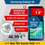 Vodafone Smart XL: Allnet-Flat + 6GB LTE ab 46,99€/Monat + Galaxy S8 + Tab S2 / iPhone 8 / Galaxy Note 8 / iPhone X, etc.