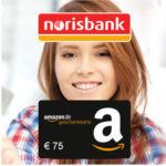 norisbank Girokonto (komplett kostenlos + Kreditkarte) + 75€ BestChoice/Amazon.de-Gutschein*