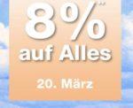 Plus.de: 8% Gutschein ohne MBW