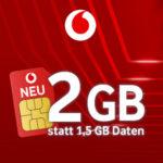 Vodafone CallYa: 200 Min/SMS + 2GB LTE für 9,99€ - monatlich kündbar (Prepaid)